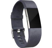 Fitbit Charge 2 Accessory Band kožený S, indigo - FB160LBIGS