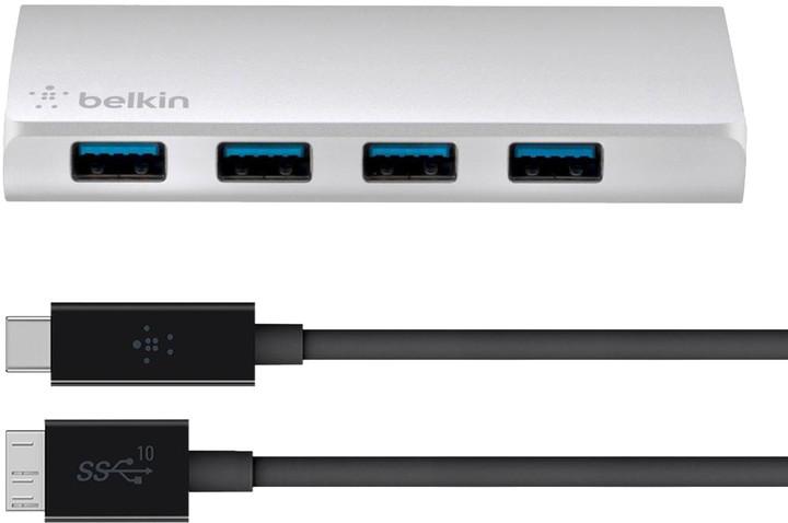 Belkin USB 3.0 4 Port Hub + USB-C Cable
