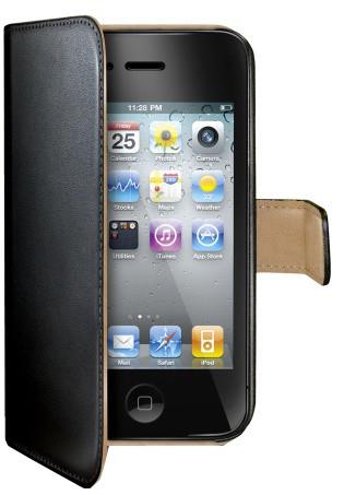 CELLY Wally pouzdro typu kniha pro iPhone 4/4S, černá