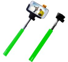 C-TECH Teleskopický selfie držák MP107G, Bluetooth, zelená - GSPCT2101