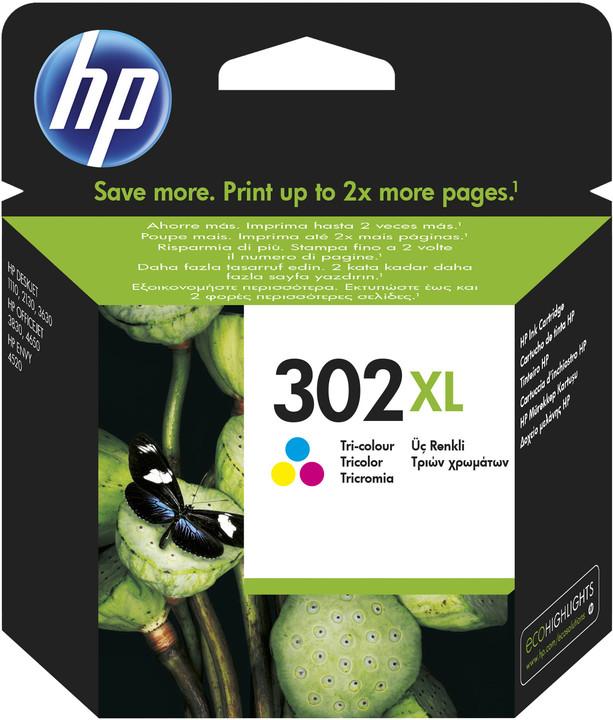 HP F6U67AE, barevná, č. 302XL