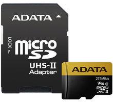 ADATA Micro SDXC Premier One 128GB UHS-II U3 + SD adaptér - AUSDX128GUII3CL10-CA1