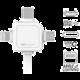 PowerCube Cable 1.5m, USB-C, modrý