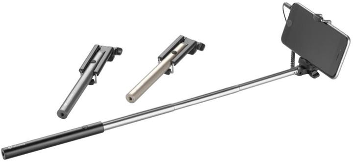 CellularLine POCKET Selfie tyč, stříbrná