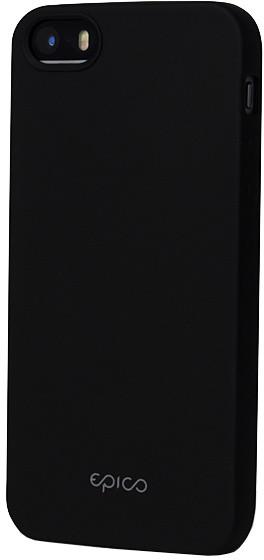 EPICO pružný plastový kryt pro iPhone 5/5S/SE EPICO GLAMY - černý