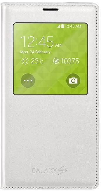 Samsung flipové pouzdro S-View EF-CG900B pro Galaxy S5, bílá