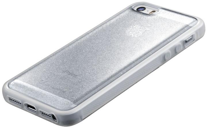 CellularLine SELFIE CASE pro Apple iPhone 5/5S/SE, stříbrné