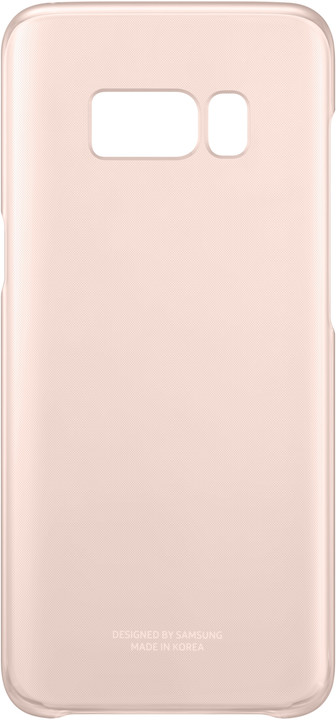 Samsung S8 poloprůhledný zadní kryt, růžová