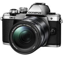 Olympus E-M10 Mark II + 14-150mm II, stříbrná/černá - V207054SE000