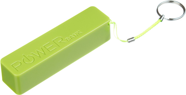 CONNECT IT COLORZ powerbank 2600 mAh, 1A, zelený
