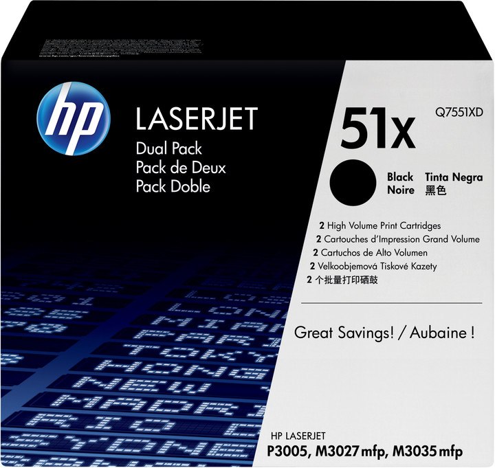 HP Q7551XD, black, 2-pack