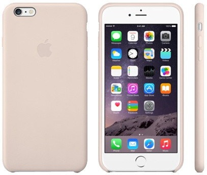 Apple Leather Case pouzdro pro iPhone 6 Plus, růžová