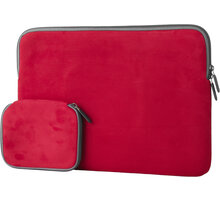 "eSTUFF Sleeve for MacBook 15"" - Red - ES1505R"