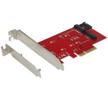 i-Tec PCI-E 2x M.2 Card (PCI-E/SATA) + LP - PCE2M2