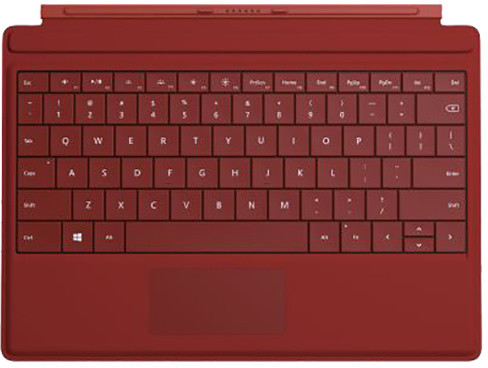 Microsoft Surface 3 Type Cover, červená