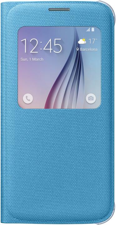 Samsung pouzdro S View EF-CG920B pro Galaxy S6 (G920), modrá