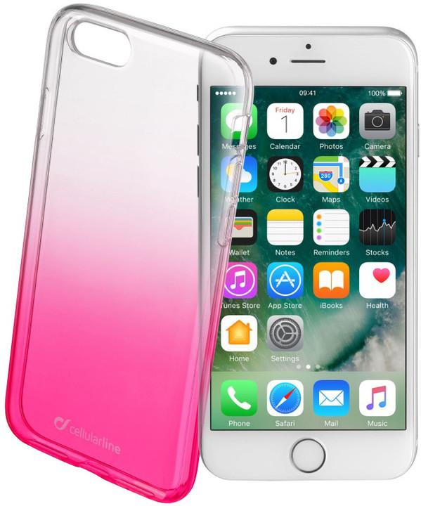 CellularLine SHADOW zadní kryt pro Apple iPhone 7, TPU, růžová