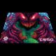 SteelSeries QcK+ CS:GO Hyper Beast, látková