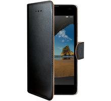 CELLY Wally pouzdro pro Microsoft Lumia 550, PU kůže, černá - WALLY529