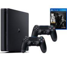 PlayStation 4 Slim, 500GB, černá - PS719845553TLOU + Gamepad Sony PS4 DualShock 4, černý v ceně 1200kč + The Last of Us: Remastered - PS4
