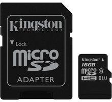 Kingston Micro SDHC 16GB Class 10 + adaptér