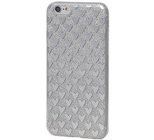 EPICO pružný plastový kryt pro iPhone 6/6S SILVER HEARTS - 4410102100015 + EPICO Nabíjecí/Datový Micro USB kabel EPICO SENSE CABLE