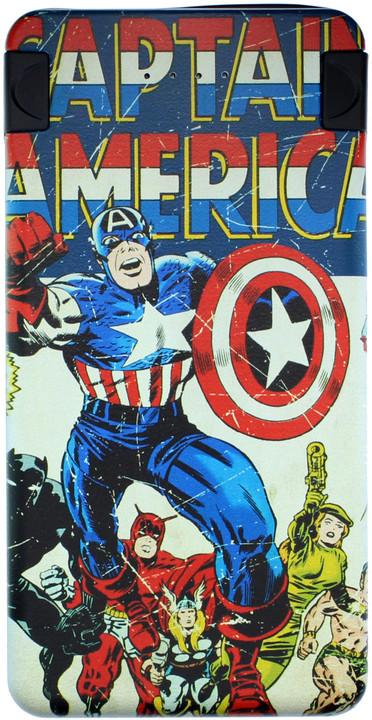 Powerbanka Marvel 6,000mAh Captain America