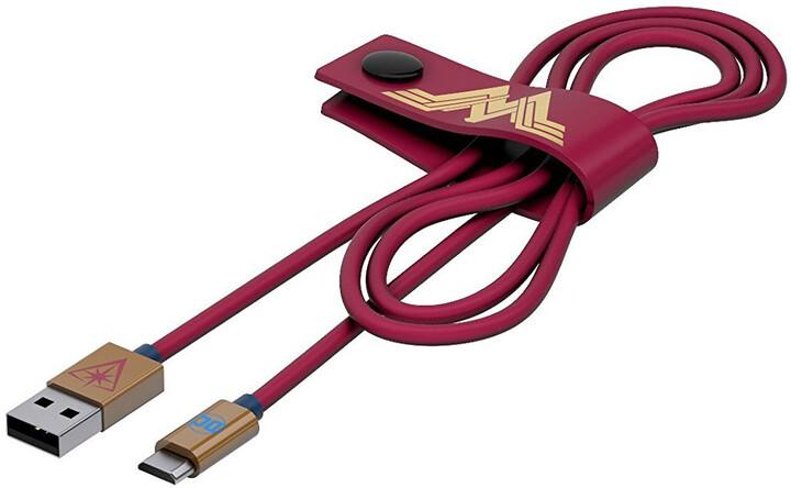 Tribe DC Movie Wonder Woman Micro USB kabel (120cm) - Červený