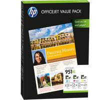 HP CR712AE, Value Pack, č. 951XL + papír A4, 75ks – ušetřete až 20 % oproti standardní náplni