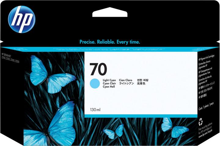 HP C9390A náplň č.70, cyan světlá