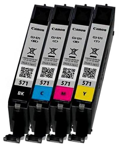 Canon CLI-571 C/M/Y/BK Photo Value pack + 4x6 Photo Paper (PP-201 50sheets)