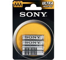 Sony Zinko - chloridové baterie - ULTRA 1,5V - 4 ks v balení - R03/AAA (ULTRA - R03NUB4A