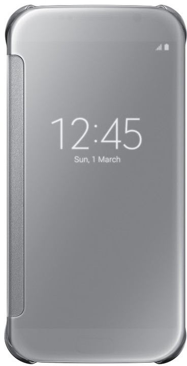 Samsung Clear View EF-ZG920B pouzdro pro Galaxy S6 (G920), stříbrná