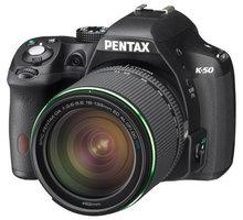 Pentax K-50, černá + DAL 18-135WR - 10915