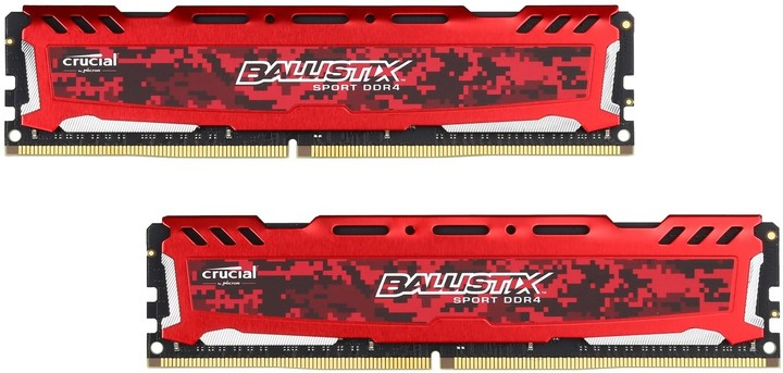 Crucial Ballistix Sport LT Red 32GB (2x16GB) DDR4 2400