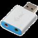 i-Tec USB 2.0 adapter na Audio, mini, metal