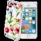 Cellularline STYLE Průhledné gelové pouzdro pro iPhone 5/5S/SE, motiv FLOWERS