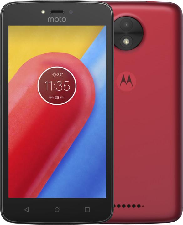 Lenovo Moto C - 16GB, Dual Sim, červená