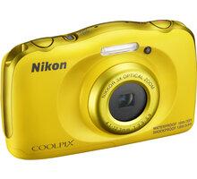 Nikon Coolpix W100, žlutá + Backpack kit - VQA013K001