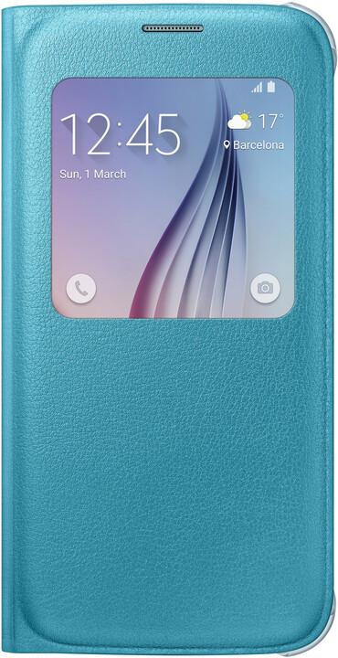 Samsung pouzdro S View EF-CG920P pro Galaxy S6 (G920), modrá