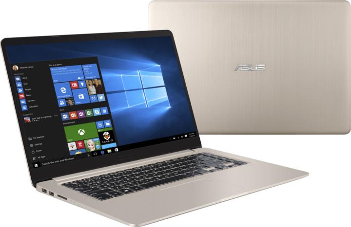 ASUS VivoBook S15 S510UQ, zlatá