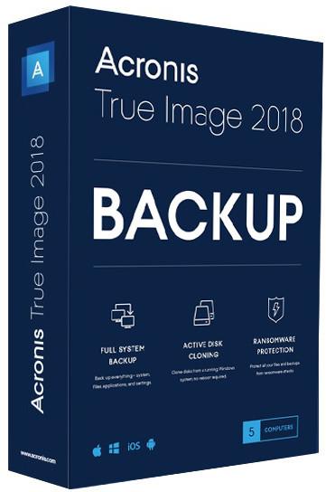 Acronis True Image 2018 ESD CZ pro 5 PC upgrade
