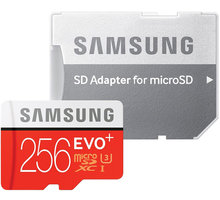 Samsung Micro SDXC EVO Plus 256GB UHS-I U3 + SD adaptér - MB-MC256DA/EU