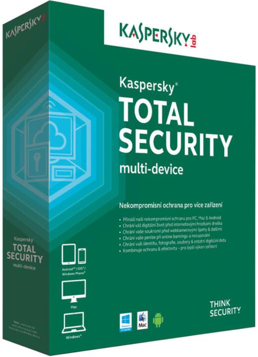 Kaspersky Total Security multi-device CZ pro 3 zařízení na 24 měsíců, přechod od konkurence