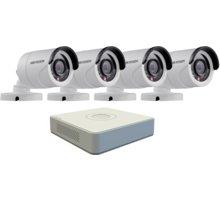 Hikvision DS-7104HQHI-F1/N, 4-kanálový AHD DVR + 4x DS-2CE16D0T-IRP kamera FHD1080p, IP66, 3,6m - DS-7104HQHI-F1/N+4x36