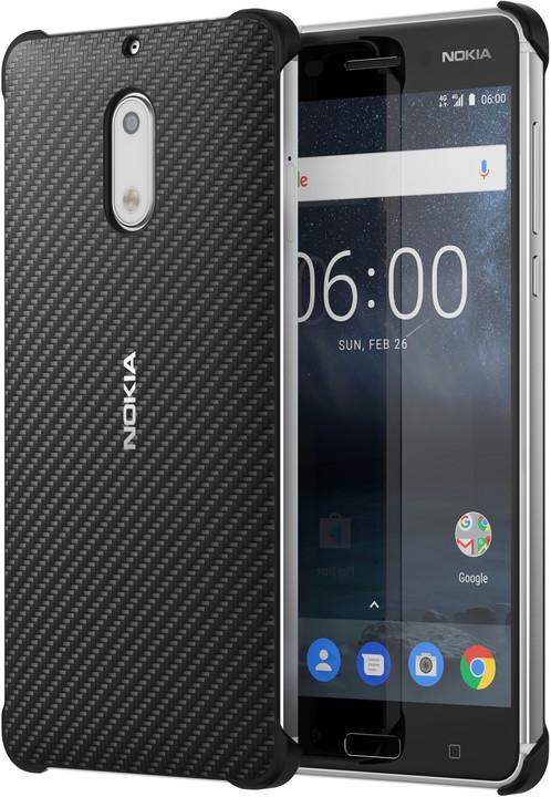 Nokia Carbon Fibre Design Case CC-802 for Nokia 6, černá