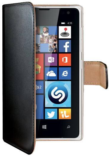 CELLY Wally pouzdro pro Microsoft Lumia 435, PU kůže, černá