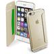 CellularLine průhledné pouzdro typu kniha Clear Book pro Apple iPhone 6, zlaté