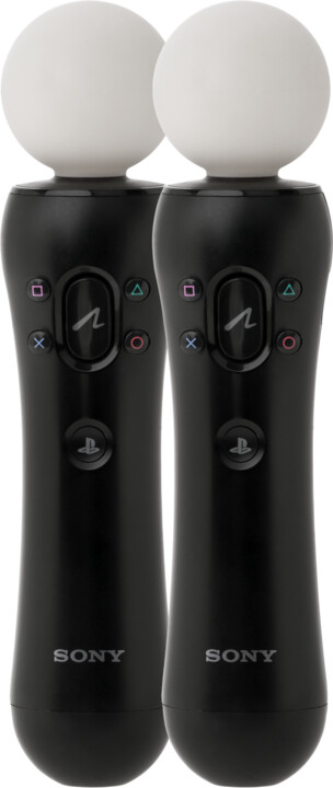 PlayStation 4 - Move Controller, twin pack, černý