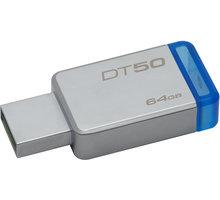 Kingston DataTraveler 50 - 64GB, modrá - DT50/64GB